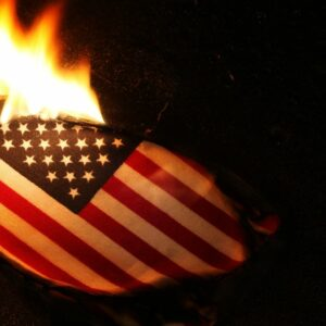 The American Flag is burned when it is too worn and tattered to fly