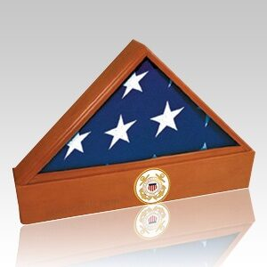 Wood Flag Cases offer a traditional and honorable remembrance