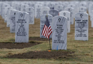 Many active members of the Military and Veterans can get a VA headstone